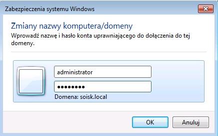 Rysunek 6. Okno zabezpieczenia systemu Windows