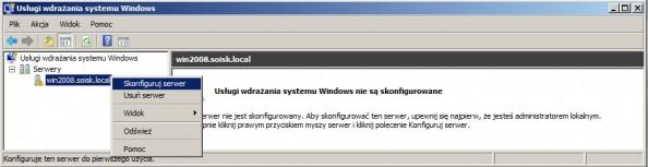 Rysunek 8. Konfiguracja usług wdrażania systemu Windows