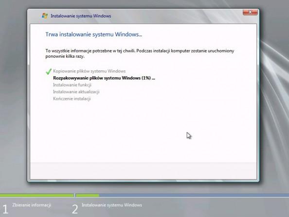 Rysunek 11. Rozpoczęcie procesu instalacji systemu.