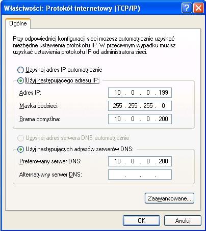 Rysunek 5.Przypisywanie adresów IP