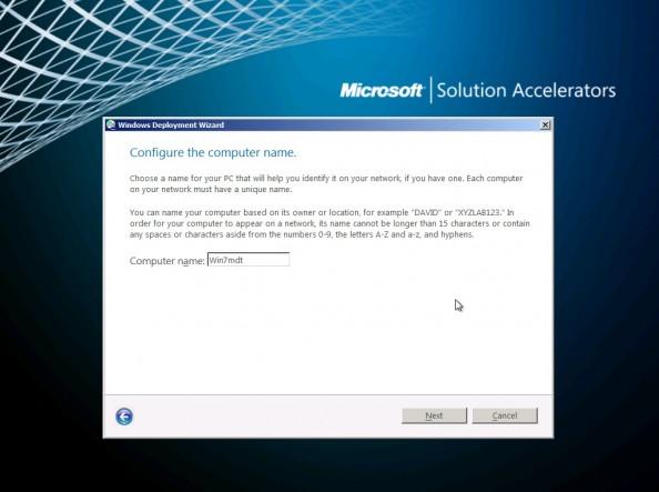 Rysunek 10. Przypisywanie nazwy komputerowi.