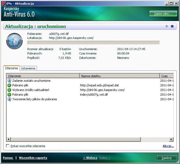 Rsyunek 22. Aktualizacja baz wirusów.