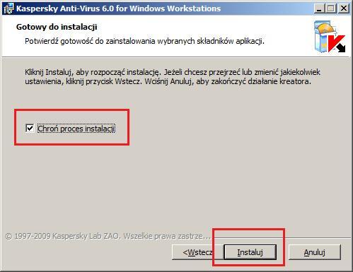 Rysunek 10. Ochrona procesu instalacji.