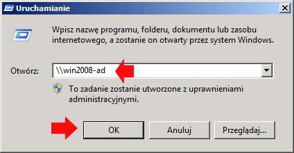 Rysunek 17. Sprawdzenie, czy folder appdeploy został poprawnie udostepniony.
