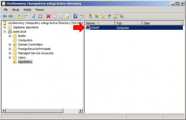 Rysunek 5. Komputer przeniesiony donowej jednostki oeganizacyjnej.