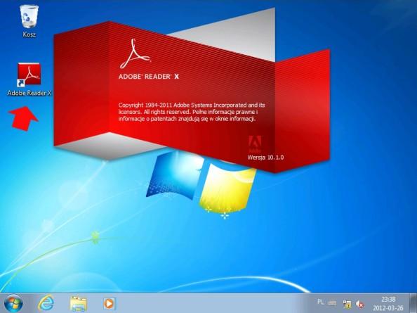 Rysunek 38. Widok bezdotykowo zainstalowanych programów wsystemie Windows 7.