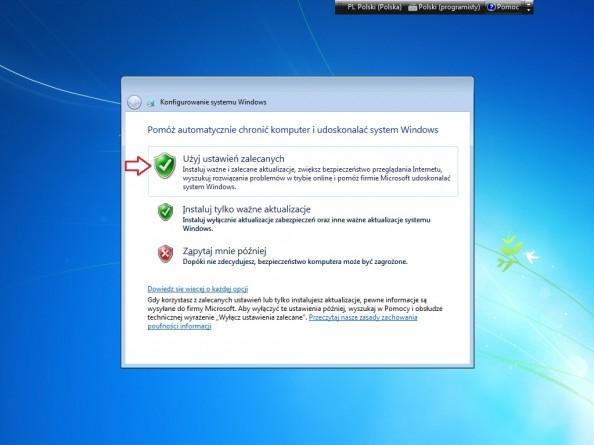 Rysunek 11. Włączanie aktualizacji automatycznych.