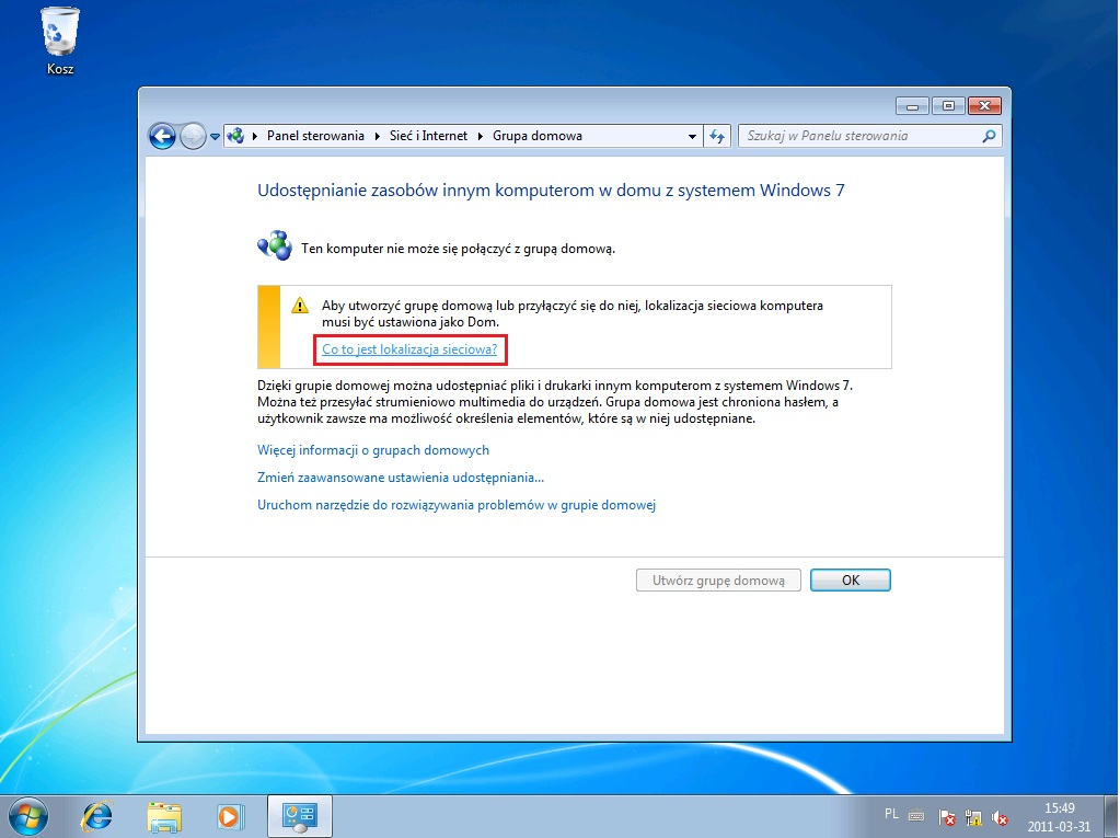 Vista Grupa Domowa Windows 7