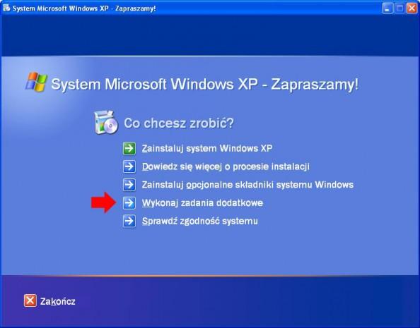 Rysunek 1. Nośnik zawierający instalację systemu Windows XP