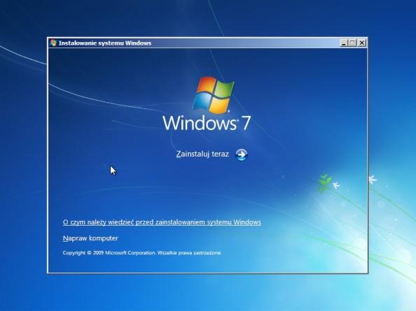 Rysunek 3. Główne okno kreatora instalacji systemu.