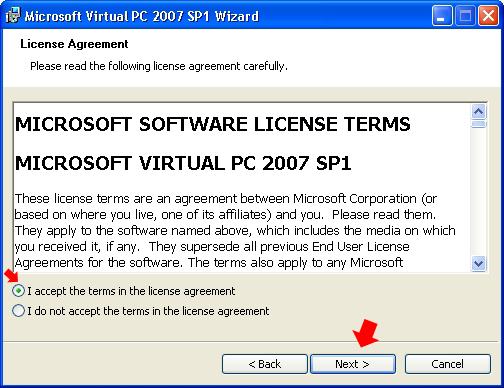 Rysunek 2. Akceptacja umowy licencyjnej.