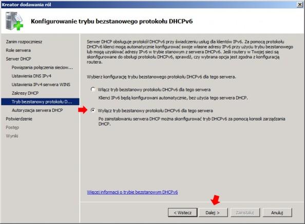 Rysunek 16. Wyłączanie trybu IPv6.