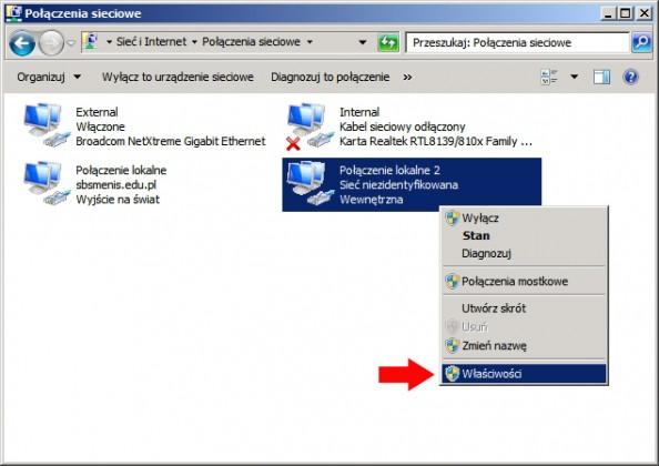 Rysunek 15. Definiowanie adresu ip wnowej virtualnej karcie sieciowej.