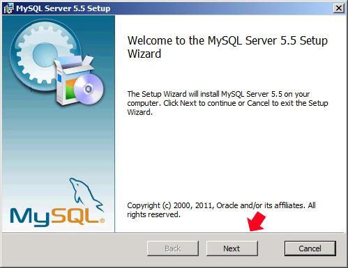 Rysunek 39. Uruchomienie instalatora MySQL.