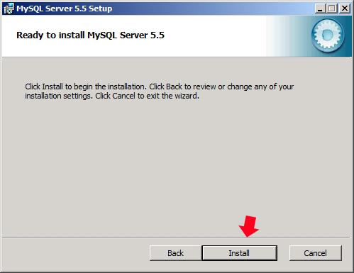 Rysunek 42. Rozpoczęcie procesu instalacji MySQLa.