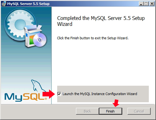 Rysunek 44. Uruchomienie konfiguracji MySQLa.