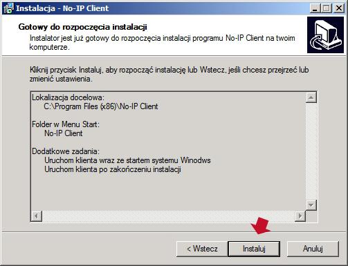 Rysunek 26. Rozpoczęcie procesu instalacji klienta no-ip wsystemie Windows.