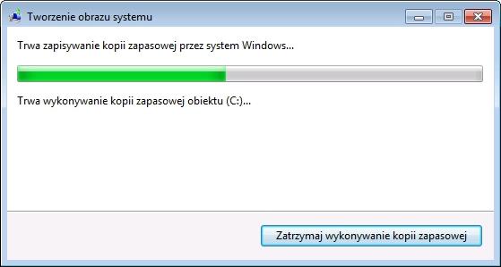 Rysunek 7. Proces tworzenia obrazu systemu Windows 7.