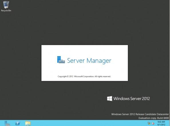 Rysunek 15. Pierwsze uruchomienie Menedżera Servera.