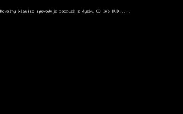 Uruchomienie płyty DVD zawierającej instalator systemu Windows 8.