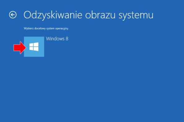 Przywracanie obrazu systemu Windows 8.