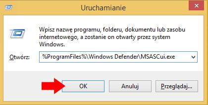 Rysunek 19. Wywołanie programu Windows Defender.