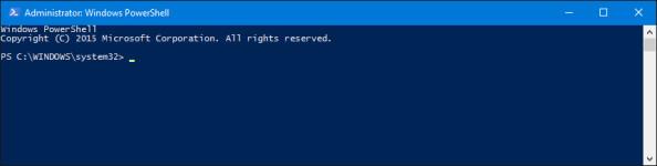 Widok wywołanego okna aplikacji Windows PowerShell.