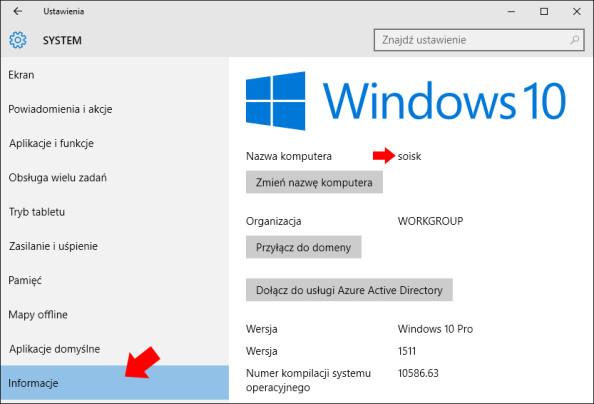 Nowa nazwa komputera została ustawiona.