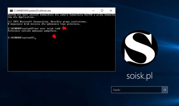 Tworzenie nowego użytkownika wsystemie Windows 10 zapomocą polecenia net user