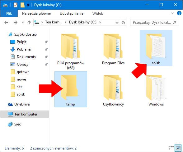 Przygotowanie folderów doskompresowania.