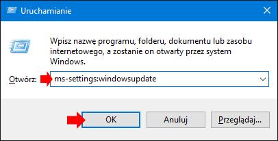 Wywołanie wybranej strony zzakładki Ustawienia wWindows 10.