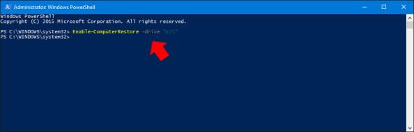 Włączanie poleceniem PowerShell ochrony nadysku systemowym.