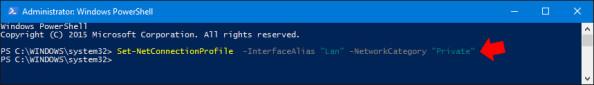 Zmiana lokalizacji sieciowej zPublicznej naPrywatną wsystemie Windows 10.
