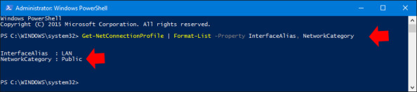 Wyświetlanie lokalizacji sieciowej wsystemie Windows 10.