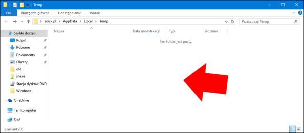 Usunięcie zawartości folderów TEMP poleceniem PowerShell.