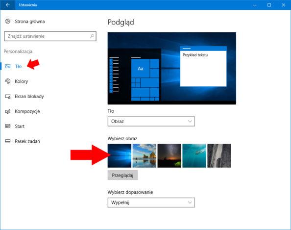Blokowanie możliwości zmiany tapety pulpitu wsystemie Windows 10.