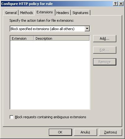 Rysunek 11. Okno blokowania plików.