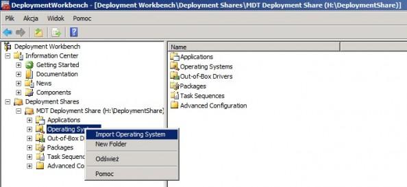 Rysunek 12. Importowanie systemu Windows 7