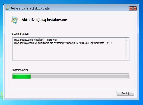 Rysunek 36. Instalacja narzędzia RSAT (Remote Server Administration Tools).