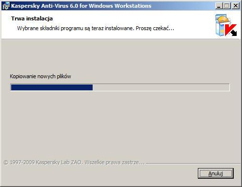 Rysunek 11. Postęp procesu instalacji.