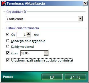 Terminarz aktualizacji baz wirusów.
