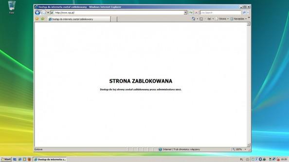 Rysunek 20. Dostęp dostrony został zablokowany.