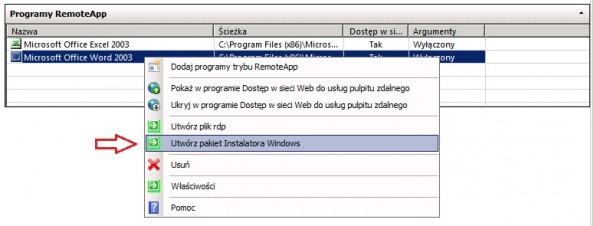 Rysunek 22. Tworzenie pakietów MSI.