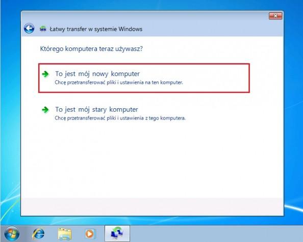 Rysunek 18. Transfer plików namójnowy komputer.