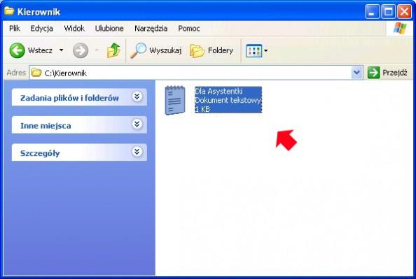 Rysunek 10. Próba otwarcia pliku zapomocą konta Asystentki.