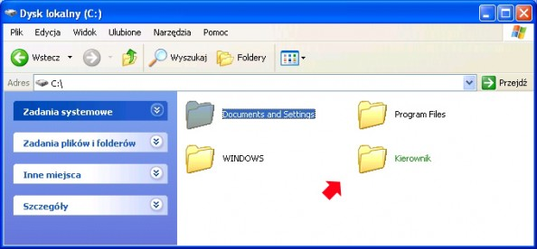 Rysunek 9. Oznaczenie folderu zaszyfrowanego.