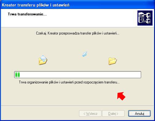 Rysunek 22. Transfer plików iustawień nanowe konto.