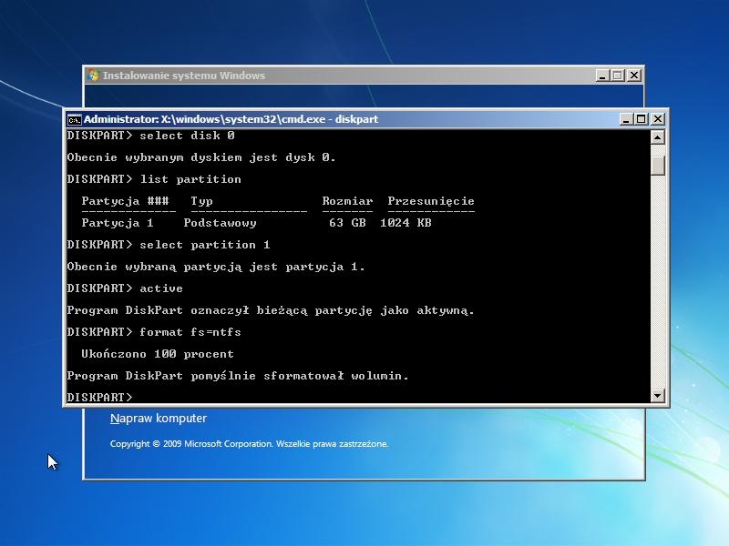 Chcesz przeprowadzić formatowanie dysku? Win7/8/xp/vista.