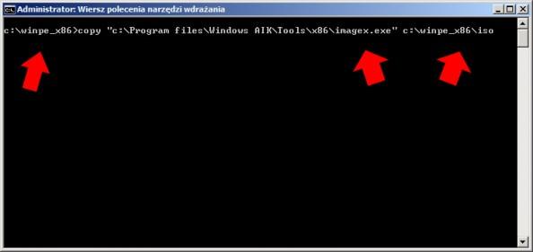 Rysunek 13. Kopiowanie narzędzia ImageX.