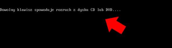 Rysunek 21. Uruchomienie płyty zawierającej Windowsa PE.